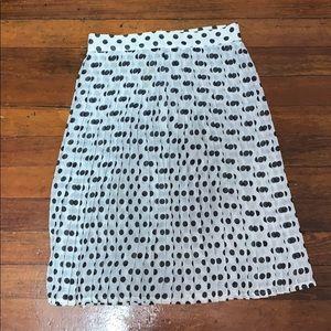 American Apparel Polka Dot Skirt Xs